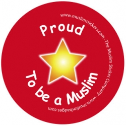 Button \'Proud to be muslim\'