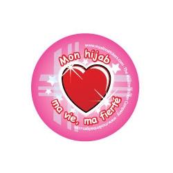 Button \'Mon hijab, ma vie, ma fierté\'