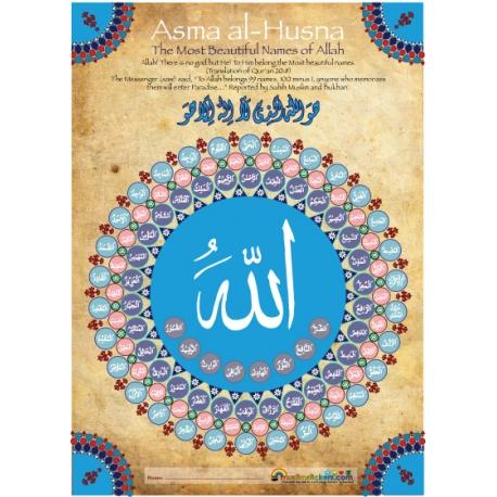 Leertabel 99 Namen van Allah