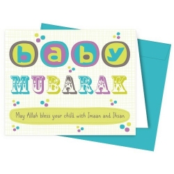 Geboortekaartje \'baby mubarak\'