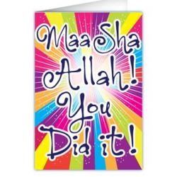 Felicitatiekaartje \'Masha\'Allah you did it\'