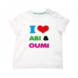 T-shirt \'I love Abi & Oumi\'