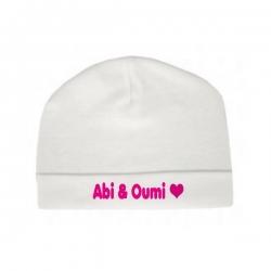 Babymutsje 'Abi & Oumi'
