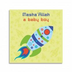 Kaartje Masha'Allah A Baby Boy - Thema Ruimte