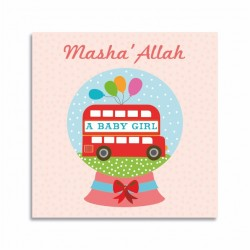 Kaartje Masha'Allah A Baby Girl - Thema Bus