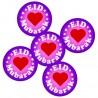 Eid Mubarak buttons paars (5-pack)