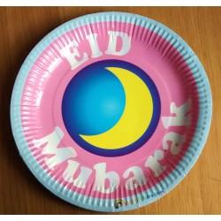 Eid Mubarak borden Blauw (5-pack)