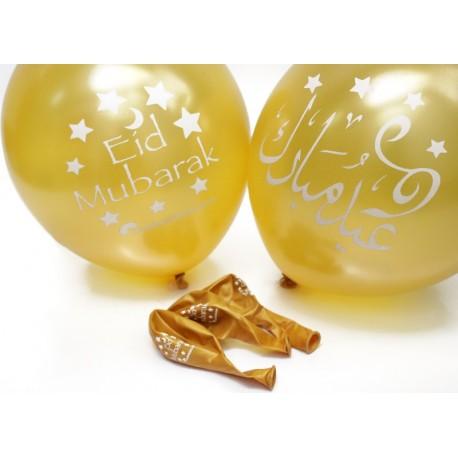 Eid Mubarak goudkleurige ballonnen