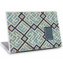 Laptopsticker Geometrie Blauw