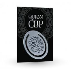 Quran clip zilverkleurig