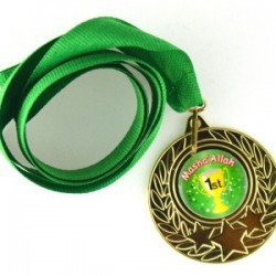 Medaille met opschrift: 'Masha'Allaah 1st'