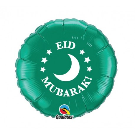 Folie ballon Eid Moebarak groen