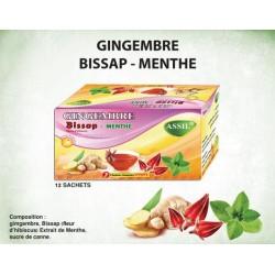 Thee gember/hibiscus/munt