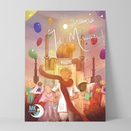 Eid Mubarak wenskaart groot
