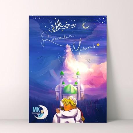 Ramadan Mubarak wenskaart groot