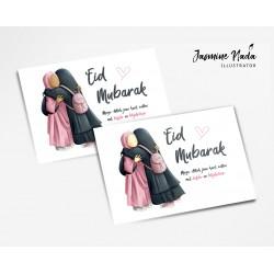 Eid Mubarak kaartje zusters