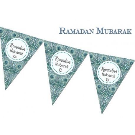 Ramadan vlaggenlijn Blauw