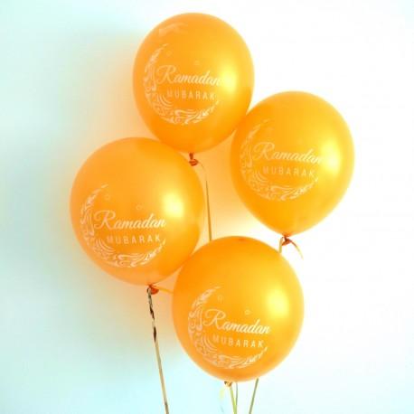 Ramadan Mubarak ballonnen goudkleurig