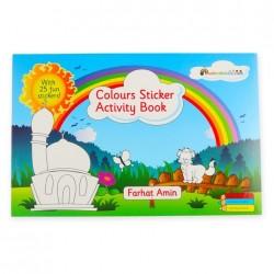 Kleur- en stickerboek thema kleuren