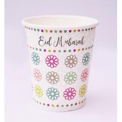 Eid Mubarak bekers Geo bloemen