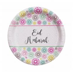 Eid Mubarak borden Geo bloemen