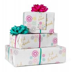 Eid Mubarak inpakpapier Geo bloemen
