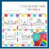 Eid Mubarak kleurkaarten thema moskee