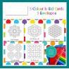 Eid Mubarak kleurkaarten thema geometrie