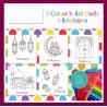 Eid Mubarak kleurkaarten thema mix