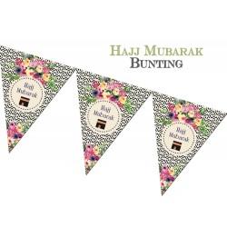 Slinger Hajj Mubarak thema bloemen