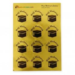Hajj Mubarak stickers goudkleurig