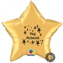 Hajj Mubarak Folie ballon ster goud