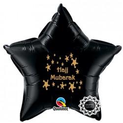 Hajj Mubarak Folie ballon ster zwart