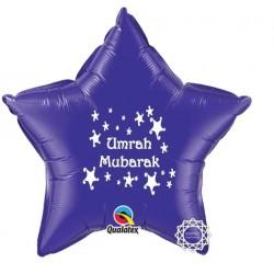 Umrah Mubarak folie ballon ster paars