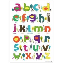 Poster alfabet met islamitische woorden