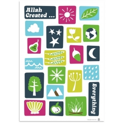 Poster 'Allah created everything'